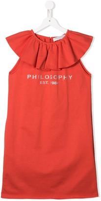 Philosophy Di Lorenzo Serafini Kids Ruffle-Trimmed Dress