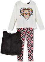 Vanilla Geometric Tee Vest & Pants - Infant Toddler & Girls