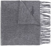 Mulberry fringed cashmere scarf