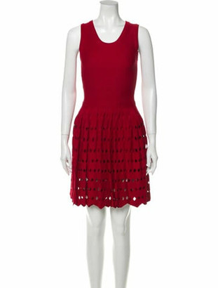 Alaia Fit and Flare Dress Knee-Length Dress Red