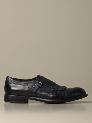 Doucal's Monk Strap In Leather With Fringes