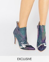 Terry De Havilland Pixie Petrol Heeled Ankle Boots