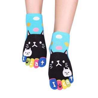 Celcuke Socks 2019 New Women's Five Finger Socks Toe Socks Celucke Cotton Cute Cats Running Mini Crew Sport Breathable Mini Party Gifts Slipper Stockings