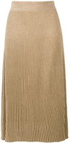 Marni ribbed knit A-line skirt