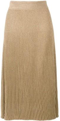 Marni ribbed knit A-line skirt