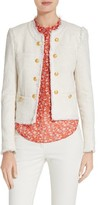Veronica Beard Women's Betsy Lace Back Tweed Jacket
