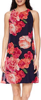 Jessica Howard Sleeveless Rose Floral Shift Dress