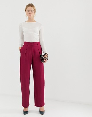 ASOS straight leg high waisted pants