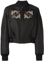 Marcelo Burlon County of Milan tiger print bomber jacket - women - Cotton/Polyester/Viscose - S