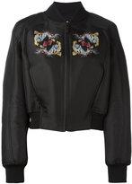 Marcelo Burlon County of Milan tiger print bomber jacket - women - Cotton/Polyester/Viscose - S