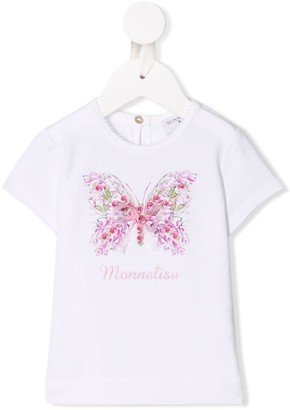 MonnaLisa butterfly embroidered T-shirt
