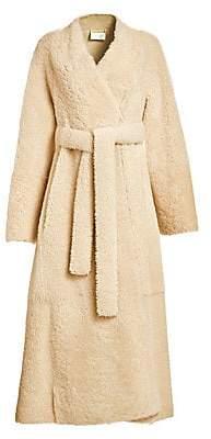 The Row Women's Tanilo Shearling Wrap Coat
