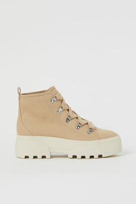 H&M Canvas Boots - Beige