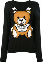 Moschino paper toy bear intarsia jumper - women - Cotton - XXS