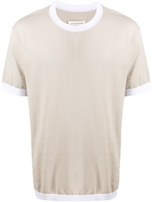 Maison Margiela contrasting trims knitted T-shirt
