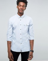 Benetton Button Down Collar Shirt with Colored Fleck
