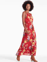 Lucky Brand Red Floral Halter Maxi