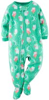 Carter's Baby Girls Footed Fleece PJ Blue