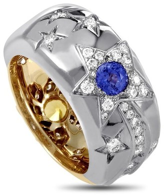 Heritage Chanel Chanel 18K Two-Tone Diamond & Sapphire Ring