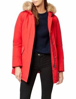 Canadian Classics Women's Down Jacket Raincoat Red Rot (Bright Red BRRE) 14