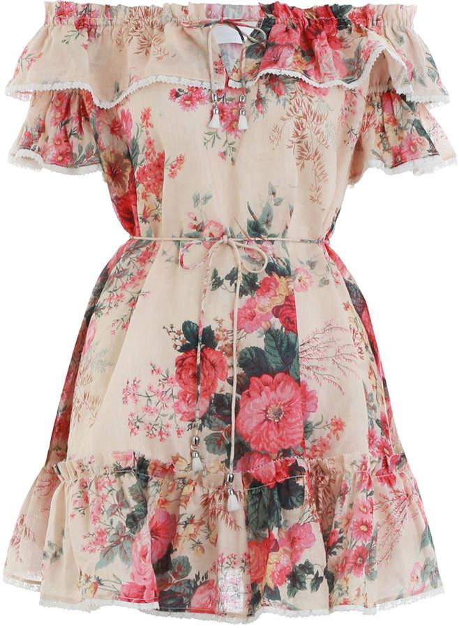 Zimmermann Laelia Frill Tier Short Dress