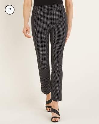 BRIGITTE Petite Mini-Dot Slim Ankle Pants