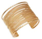 Design Lab Lord & Taylor Multi-row Chainlink Cuff Bracelet