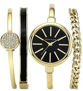 Anne Klein Women's Round Watch & Bangle Set, 32Mm
