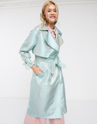 Palones Luna Iridescent Duster in Mint