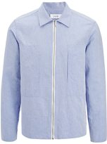 Joseph Linen Chambray Falkland Jacket in Sky Blue