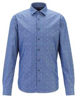BOSS Slim-fit shirt with New York icons fil coupe