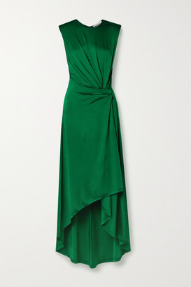 Monse Asymmetric Gathered Stretch-jersey Midi Dress - Emerald