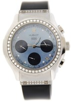 Hublot 1810.1.054 MDM Blue Dial Diamond Chronograph Stainless Steel Womens Watch
