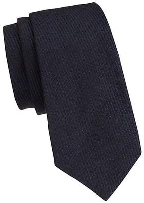 Emporio Armani Textured Silk Blend Tie