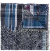 Etro checked scarf - men - Cotton/Modal/Viscose - One Size