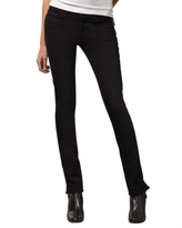 Jeans Pencil Split Skinny Jeans, Black