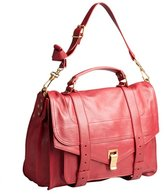 Proenza Schouler chianti red leather 'PS1' large satchel