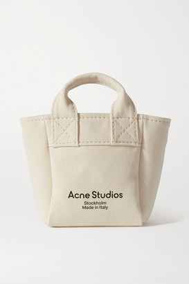 Acne Studios Printed Canvas Tote - Beige