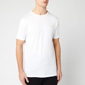 True Religion Men's Metal Horseshoe Crew T-Shirt - White - S