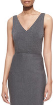 Donna Karan Sleeveless V-Neck Bodysuit, Flannel