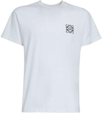 Loewe Logo Embroidery Cotton Jersey T-Shirt
