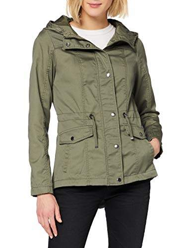 Only Women's Nkmsigfred Ls Card Wh Bru Parka,16 (Size: X-Large)
