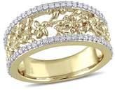 Laura Ashley Diamond Foral Ring.