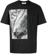 MSGM printed lion T-shirt - men - Cotton - 46