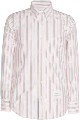 Thom Browne Pinstriped Cotton-Poplin Shirt