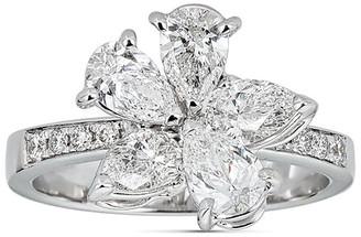 Zydo Luminal 18k White Gold Abstract Diamond Ring, Size 6.75