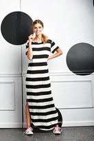 Shabby Apple Professor Parker Maxi Dress B&W Stripe