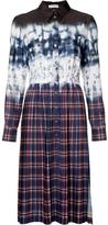 Altuzarra Tie-Dye Plaid Shirt Dress