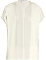 Vince V-neck silk-georgette blouse