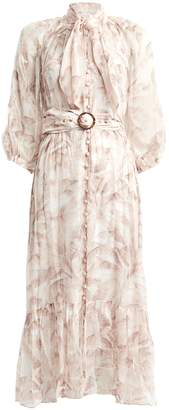 Zimmermann Super Eight Silk Safari Dress